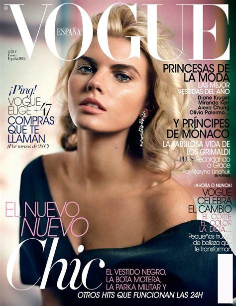 magazine layout en espanol maryna linchuk for vogue spain january 2012