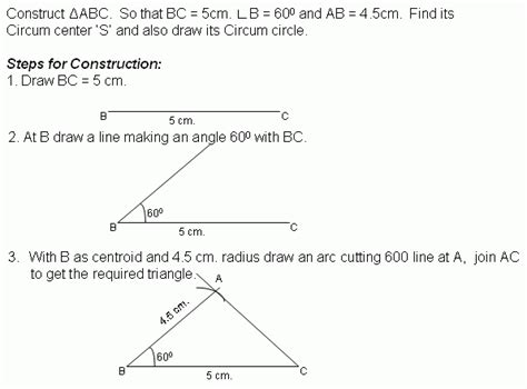 Construction Worksheets Geometry by Construction 2 Circumcircle Middle High School
