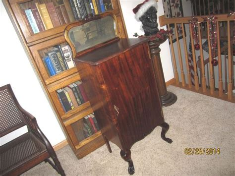 player piano roll cabinet antique mahogany sheet holder player piano roll