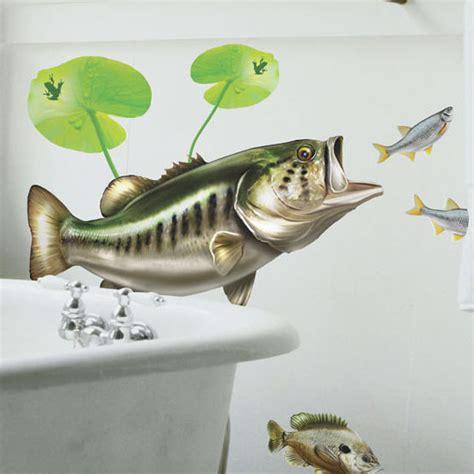 Bass Fishing Home Decor Largemouth Bass Wall Decal Bold Wall Art