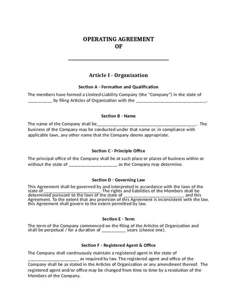 Llc Operating Agreement Template Download Edit Fill Sign Online Handypdf California Llc Operating Agreement Template
