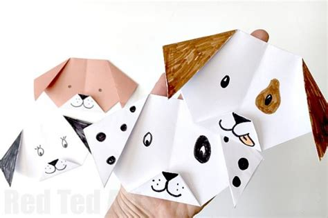 Puppy Origami - easy origami for ted s