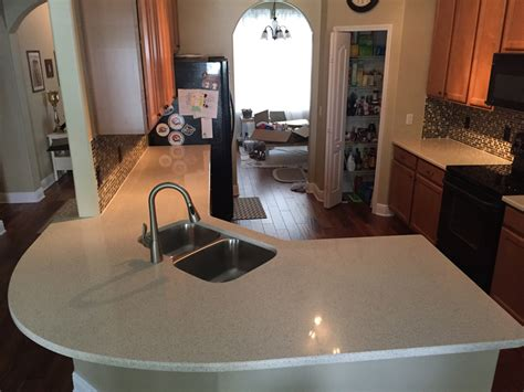 caesarstone oyster quartz countertops by granite perfection