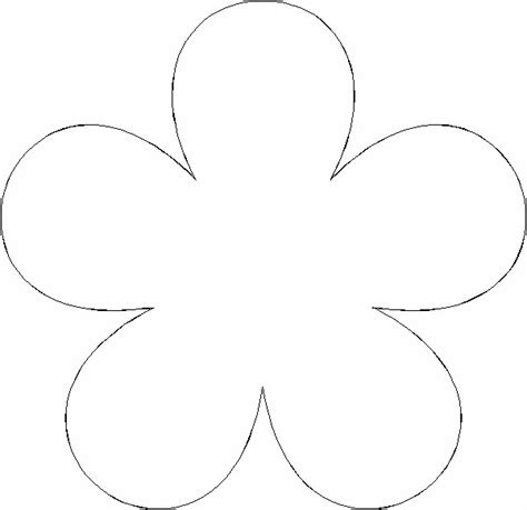flower cut out template paper flower templates cyberuse