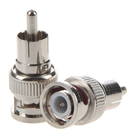 Bnc To Rca Connector 2 pcs bnc to rca rf coaxial connector adapter