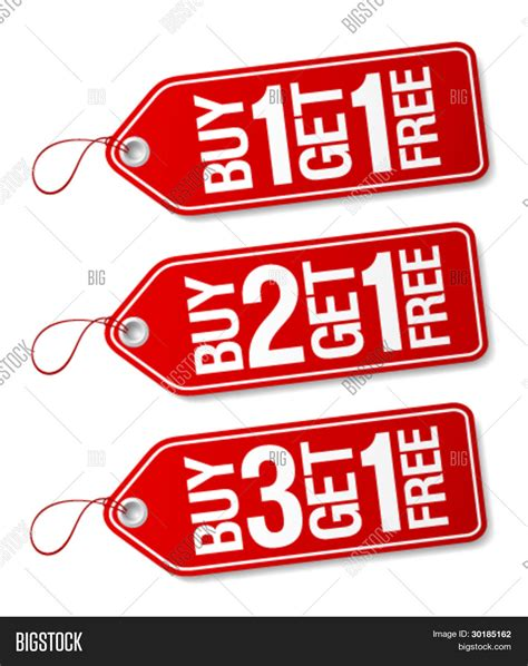 Buyonegetonefree Threesecond buy one get one free promotional vector photo bigstock