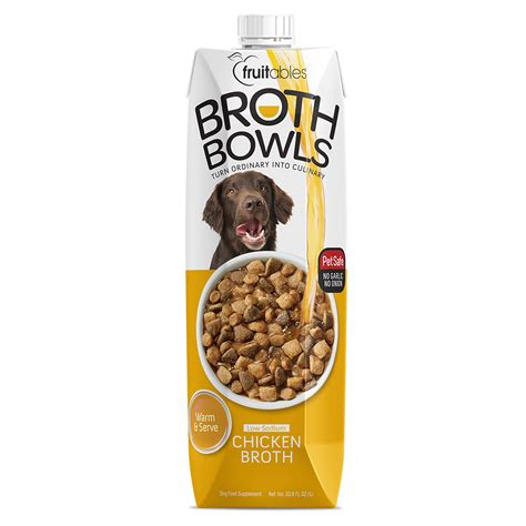 chicken broth for dogs fruitables broth bowls chicken 1 lt naturally for pets