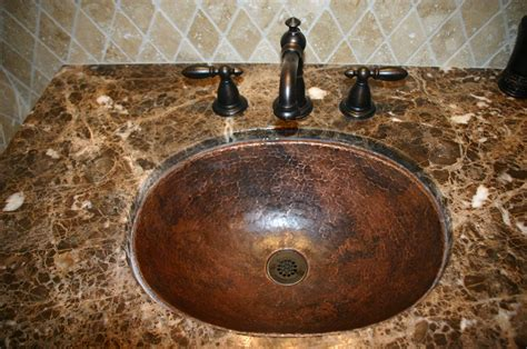 Soluna Large Oval Hammered Copper Sink Copper Sinks