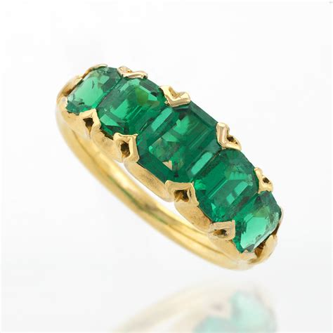 antique five emerald ring