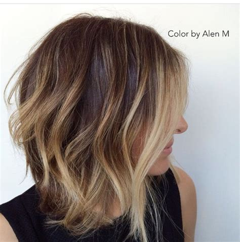 show me of lob hairstyle angled bob bayalage hair inspo pinterest bobs