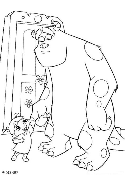 monsters inc coloring pages online boo and sulley coloring pages hellokids com