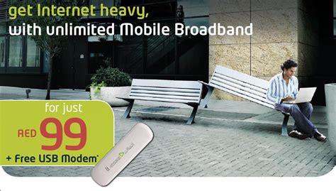 mobile unlimited broadband etisalatuae unlimited mobile broadband offer aed99 per month