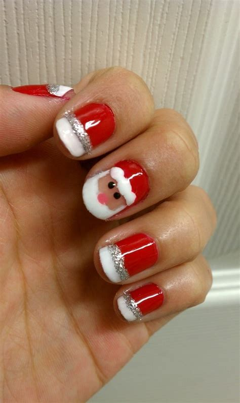 easy nail art for xmas 30 beautiful christmas nail art designs entertainmentmesh