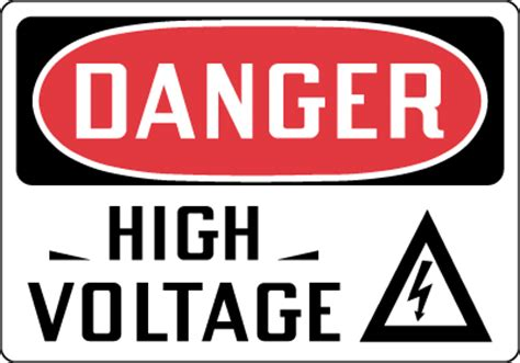 high voltage construction standards electrical safety sign danger high voltage with symbol