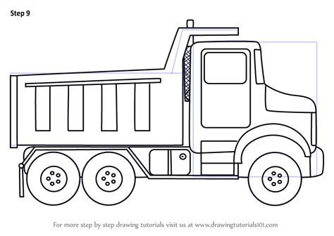 Simple Dump Truck Coloring Pages by Dump Truck Autocad Drawing Sketch Coloring Page