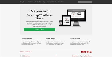 social icons strappress bootstrap full width button phpsourcecode net