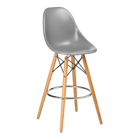 bar stools wooden legs windsor bar chair in grey abs with wooden legs 26730