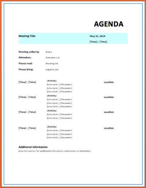 free meeting agenda template magnificent free meeting templates pictures inspiration