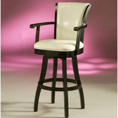 glenwood gl swivel bar stool feher black  cream