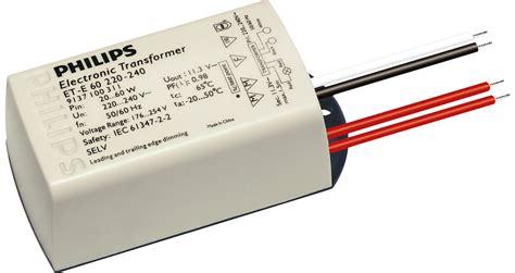 electronic transformer halogen ls et e 60 220 240v 50 60hz electronic transformers philips