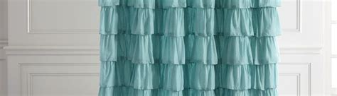teal ruffle shower curtain ruffled turquoise shower curtain everything turquoise