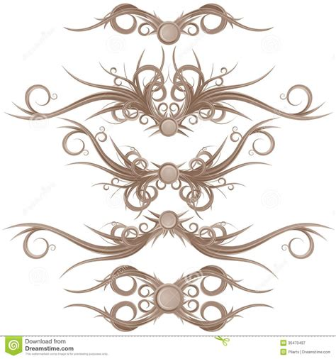 borders design elements vector gothic borders and design elements royalty free stock