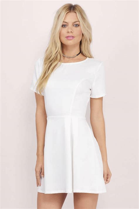Id 428 Backless Dress ivory skater dress backless dress 15 00