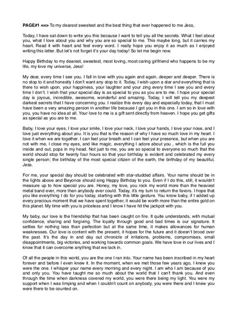 birthday love letters love letter to girlfriend