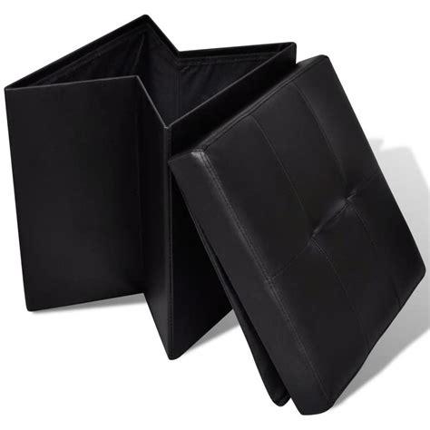 taburete otomano taburete negro plegable de almacenamiento otomano
