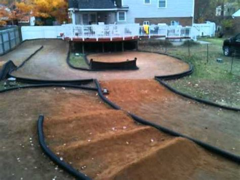 how to build a rc track in my backyard backyard rc track youtube