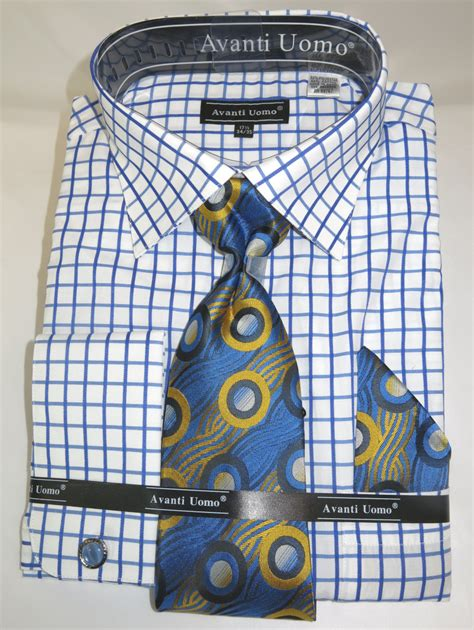 pattern matching in french avanti dn72m blue men s french cuff dress shirt with mini