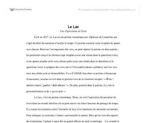Le Lac Une Explication de Texte   A Level Modern Foreign