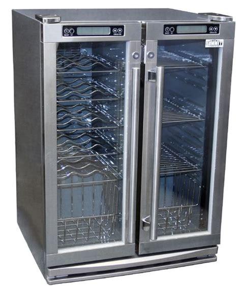 Outdoor Fridge Glass Door Summit Spr6 Os2z Outdoor Refrigerator 24 Inch 4 8 Cu Ft Two Glass Doors 2 Zones For