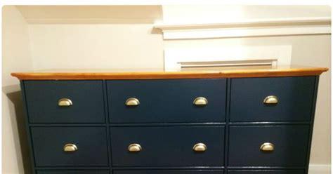 9 Drawer Dresser Ikea by Ikea Hack Hurdal 9 Drawer Dresser Painted In Farrow Hague Blue With Ikea