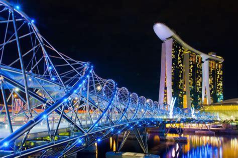 helix bridge the helix bridge bridge in singapore thousand wonders