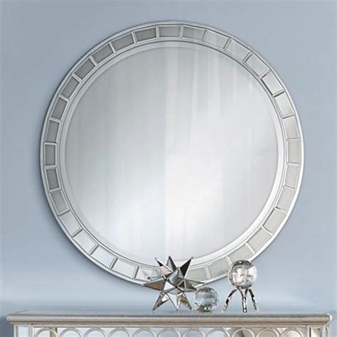 kesha antique silver beveled 36 quot wall mirror 2n043 ls plus