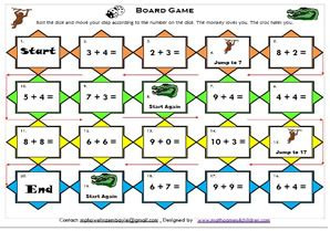 printable math board games for 6th grade mathematics math board games math games for kids math