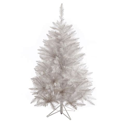 4 5 foot sparkle white spruce christmas tree unlit a104145