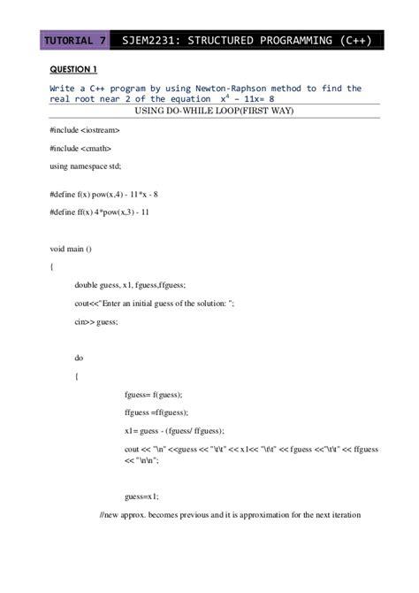tutorial questions on c programming c tutorial 7