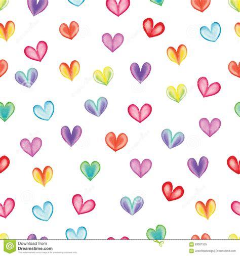 heart pattern rainbow rainbow hearts eamless pattern stock illustration image