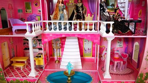 my barbie doll house tour my new barbie dollhouse cute toy fairy tale castle review and tour kid friendly