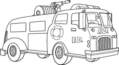 20 free printable fire truck coloring pages