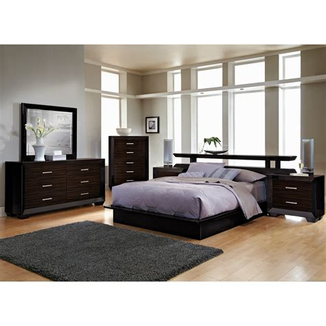 full bedroom set sale the toronto collection pecan value city furniture