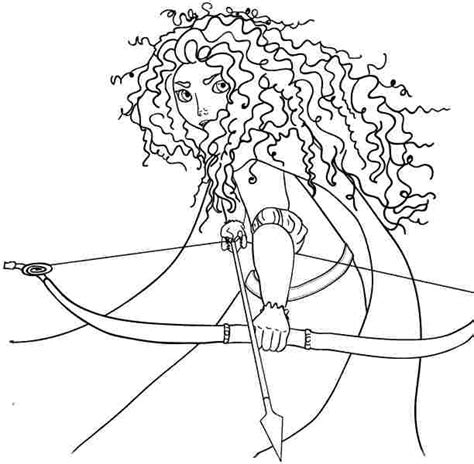princess merida coloring page 4 best images of free printable brave coloring pages