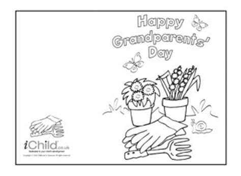 children s day card template grandparents day gardening card ichild