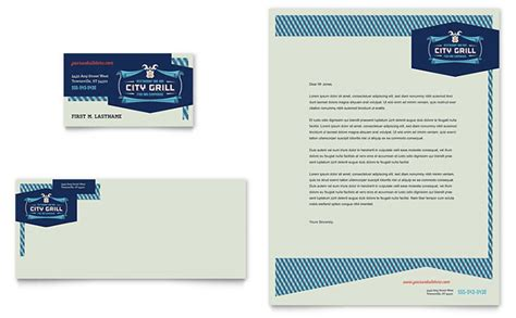 Restaurant Letterhead Templates Free by Dining Restaurant Business Card Letterhead Template