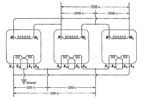 three phase to single phase transformer diagram single phase transformers for three phase operation
