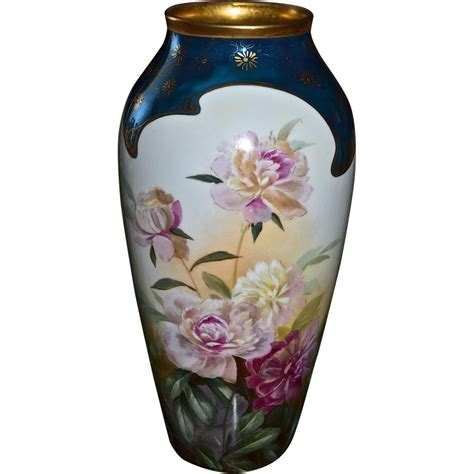 Pickard Vase Pickard Rare Large Vase With Roses Signed By Leading