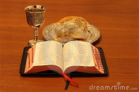 bread wine bible stock photography image