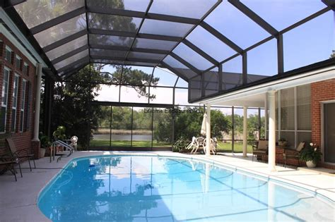 French Patio Door With Screen by Pool Enclosures Lifetime Enclosures